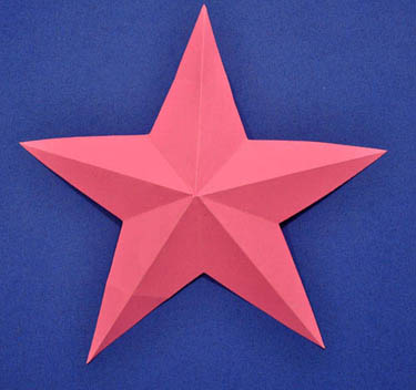 How to cut out a five pointed star for How to make a big paper star