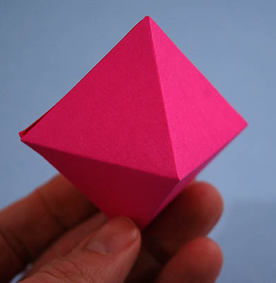 how to make an octahedron out of paper