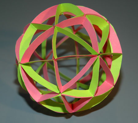 spherical model of planes of symmetry in a cube