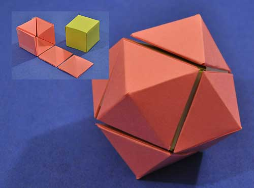 rhombic dodecahedron from two cubes