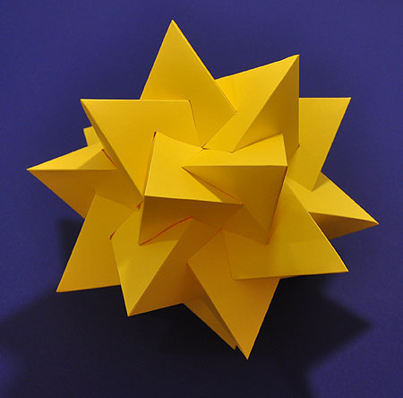 model of five intersecting tetrahedra
