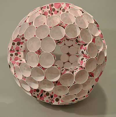 how to make a truncated icosahedron out of paper cups