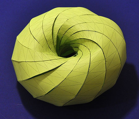 a model of a Clifford torus make out of paper